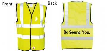 Hi-Vis Waistcoat Be Seeing You text  Simply Loveleh Brotherhood